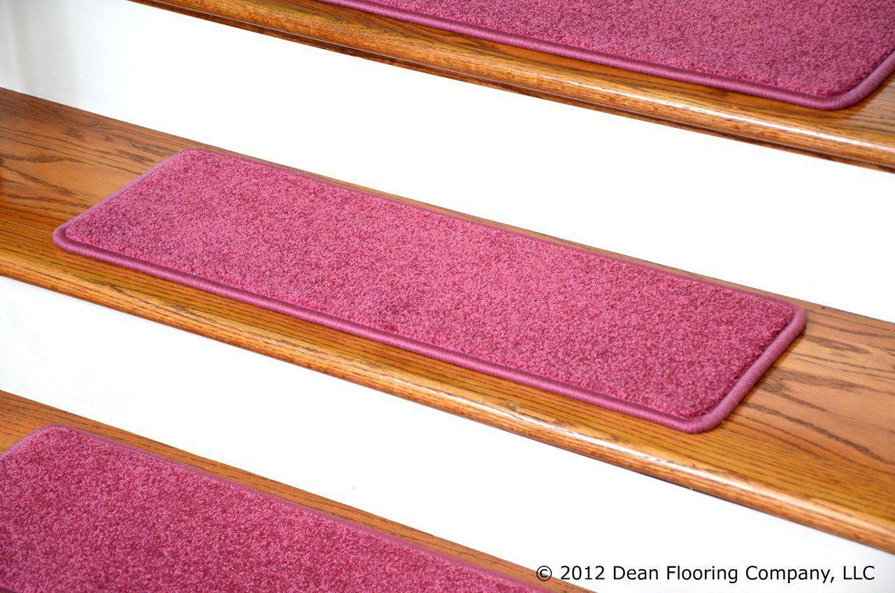 Dean Carpet Stair Tread Rugs 27 X 9 Pink Plush Set Of 13 With | Dean Carpet Stair Treads | Pet Friendly | Gripper Tape | Friendly Diy | Rug | Modern Diy