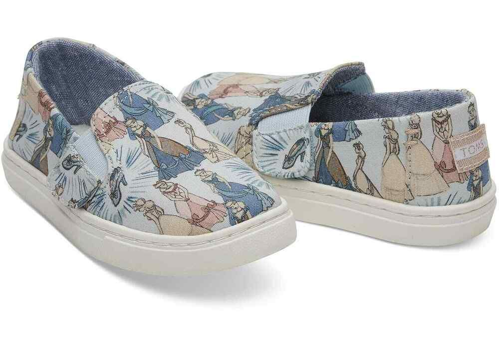 066df659 Toms Luca Blue Cinderella Printed Canvas Tiny Size 5 #fashion #clothing  #shoes #