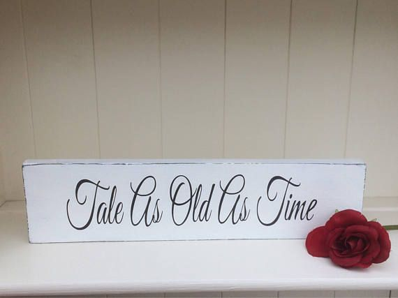 Free Standing Wooden Wedding Sign Shabby Chic Decoration Tale As Old Time