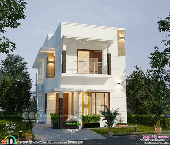 1500 Square Feet 4 Bedroom 25 Lakhs Cost Home Duplex House Design House Designs Exterior Square House Plans