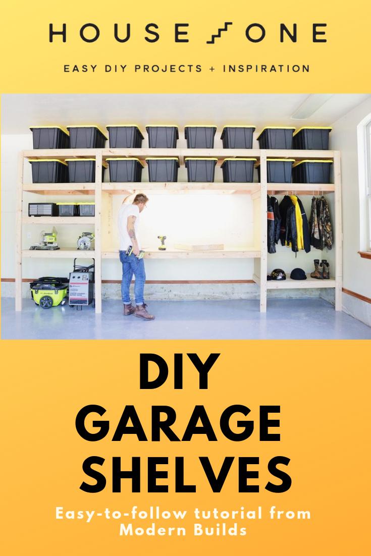Diy Garage Shelves In 2019 Storage Organization Ideas