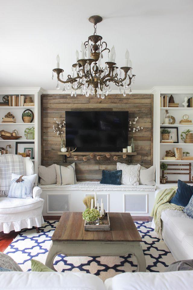 Fall Family Room - Shades of Blue Interiors | Farmhouse ...