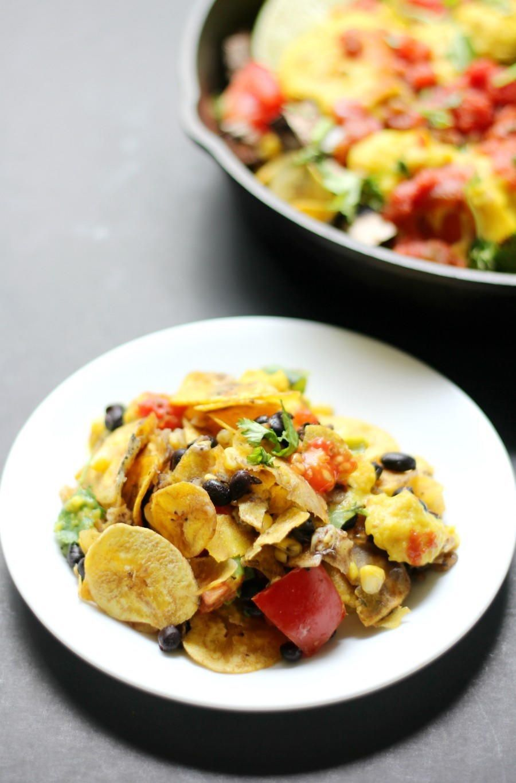 Glutenfree skillet plantain nachos a delicious messy