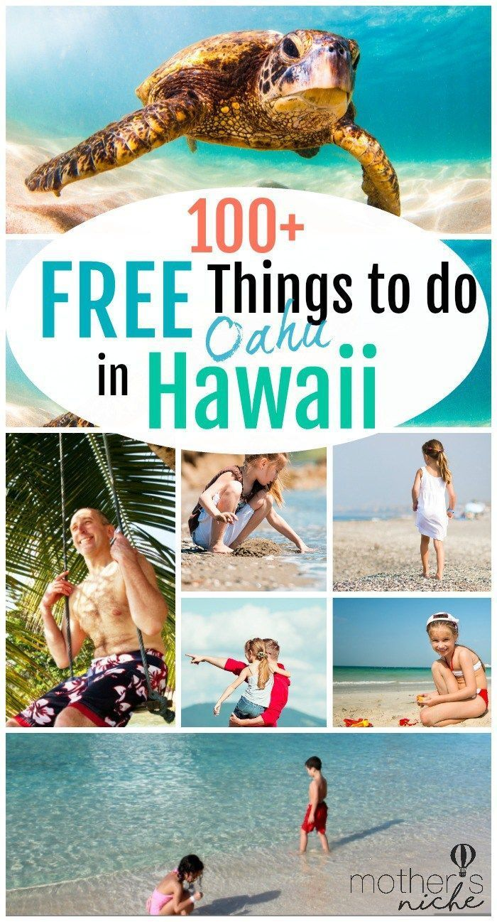 Planning a family vacation to Oahu Hawaii? You want to check out our 100+ free things to do! These fun activities will save you money and help you budget on your trip. - Mother's Niche #freethingstodo #freeactivitieshawaii #familyvacationhawaii #familytravel