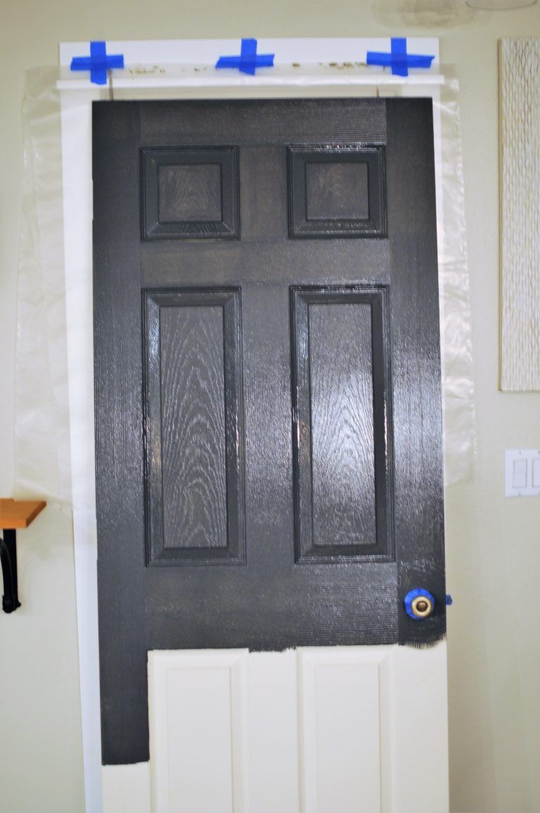 How To Paint A Panel Door Perfectly In Under An Hour Black