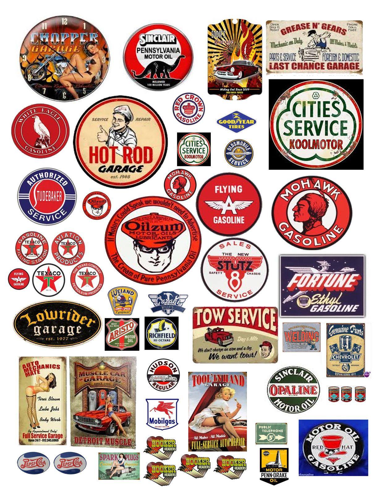 1 18 Vintage Garage Signs 3 Decals For Diecast Model Car Dioramas Car Model Model Trains Garage Signs [ 1600 x 1236 Pixel ]