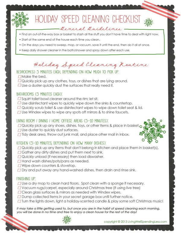 Holiday Speed Cleaning | Yes You Can! {DIY} | Speed cleaning