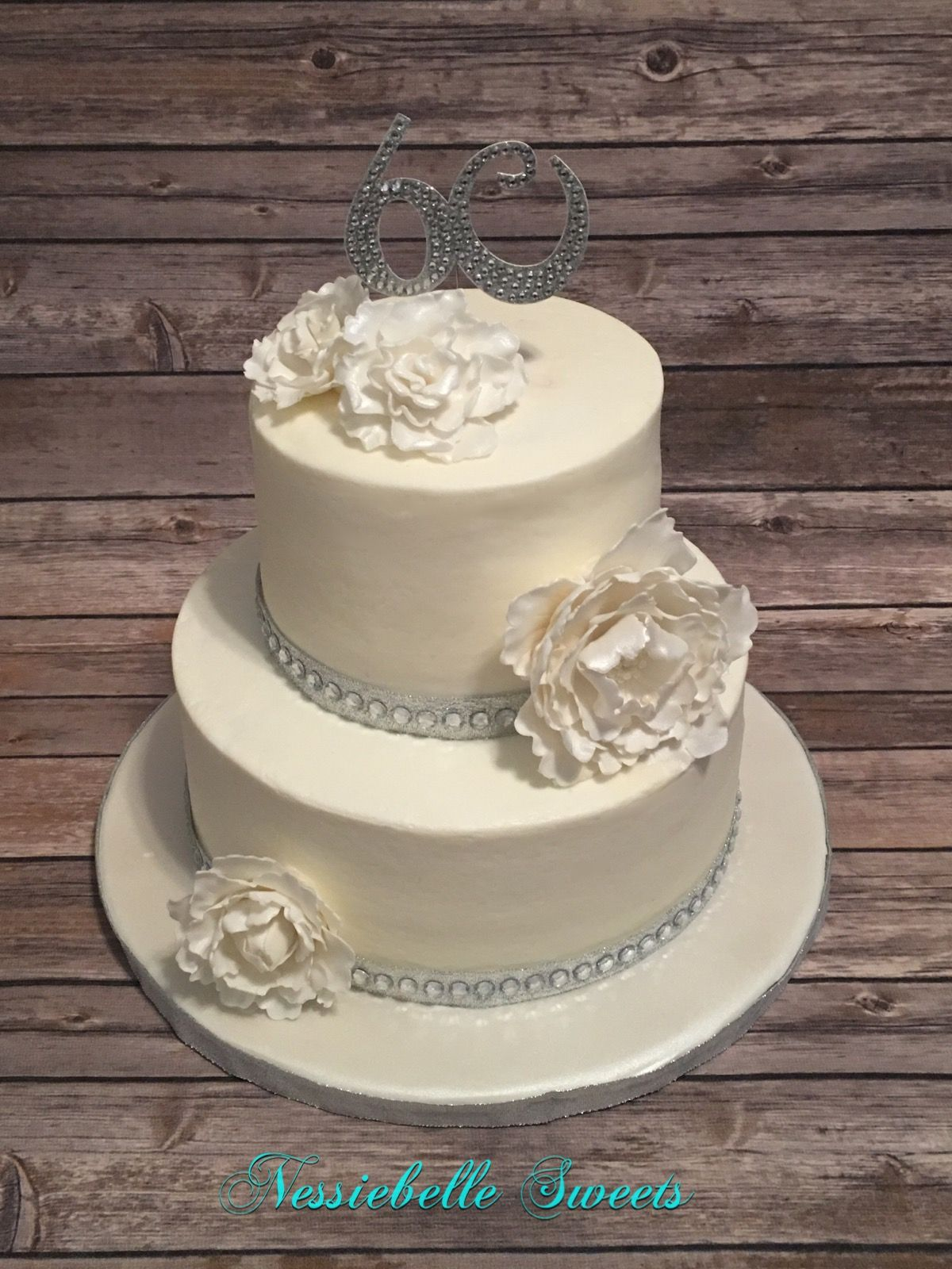 60th Wedding Anniversary Cake Cake, 60 wedding