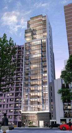 """302 E. 96th St. - 21-story """"Affordable Luxury"""" Condo """"The buyer is anyone who can't afford to be in all these downtown neighborhoods, but still wants to live in the city and have incredibly close access to a train,"""" says Eric Brody, Wonder Works' managing partner. Via New York Post More about Wonder Works Construction Corp. at www.wonderworkscorp.com"""