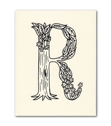 R Letter Card  Beau Ideal Editions Typography  Letters Letters