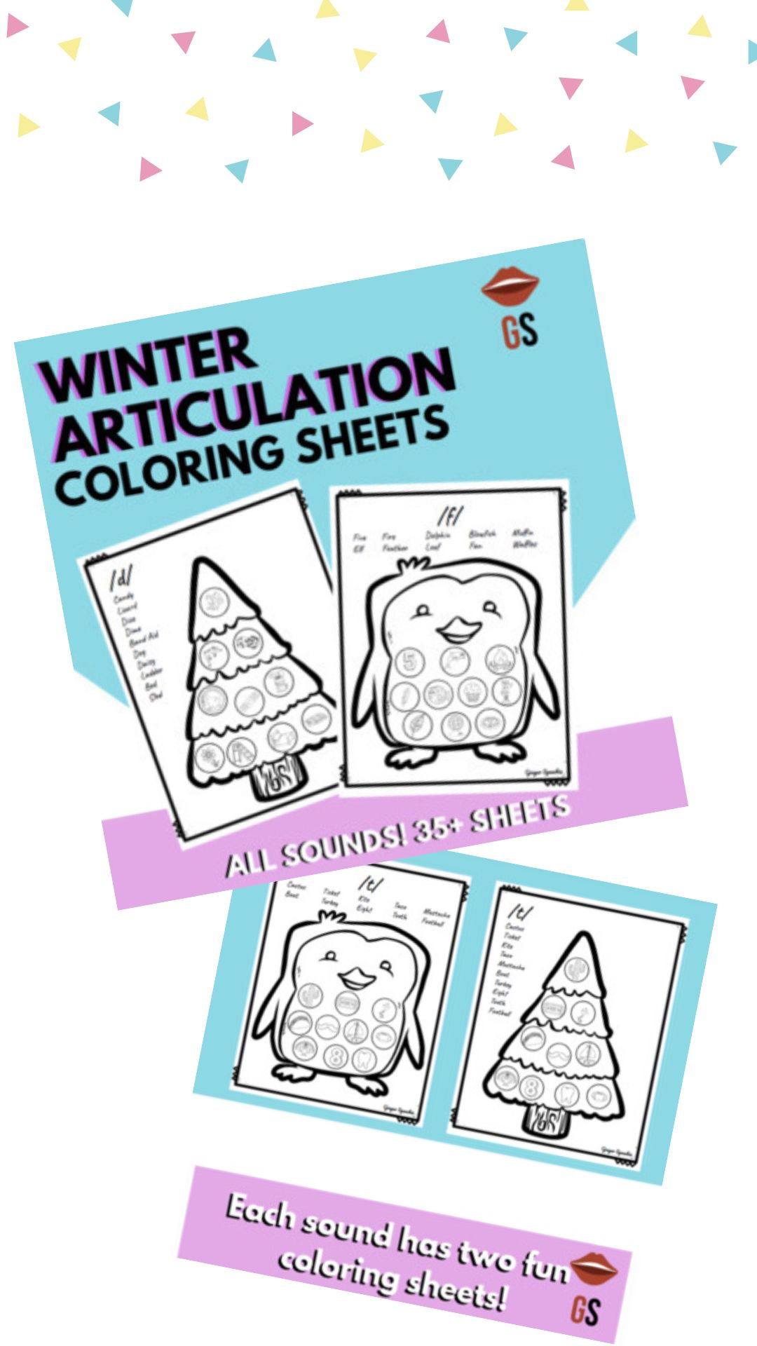 No Prep Winter Articulation Coloring All Sounds