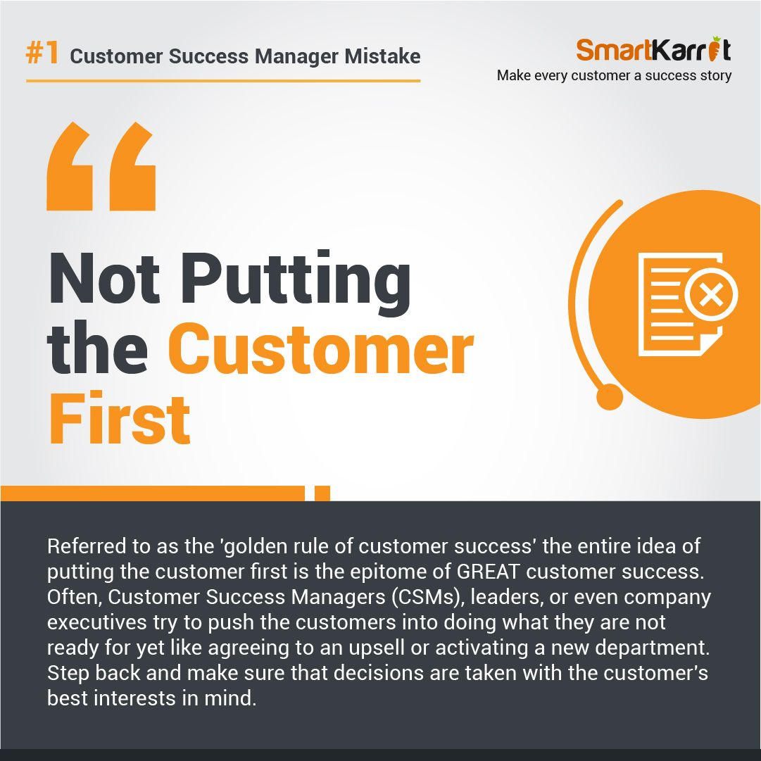 Customer Success Mistake Success Management Success Stories