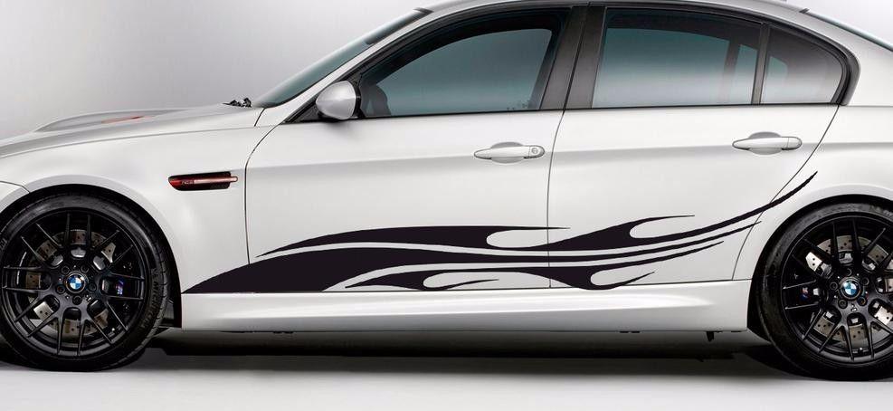 Dodge Flaming Tribal Logo 2 Die Cut Vinyl Car Decal Wall Sticker