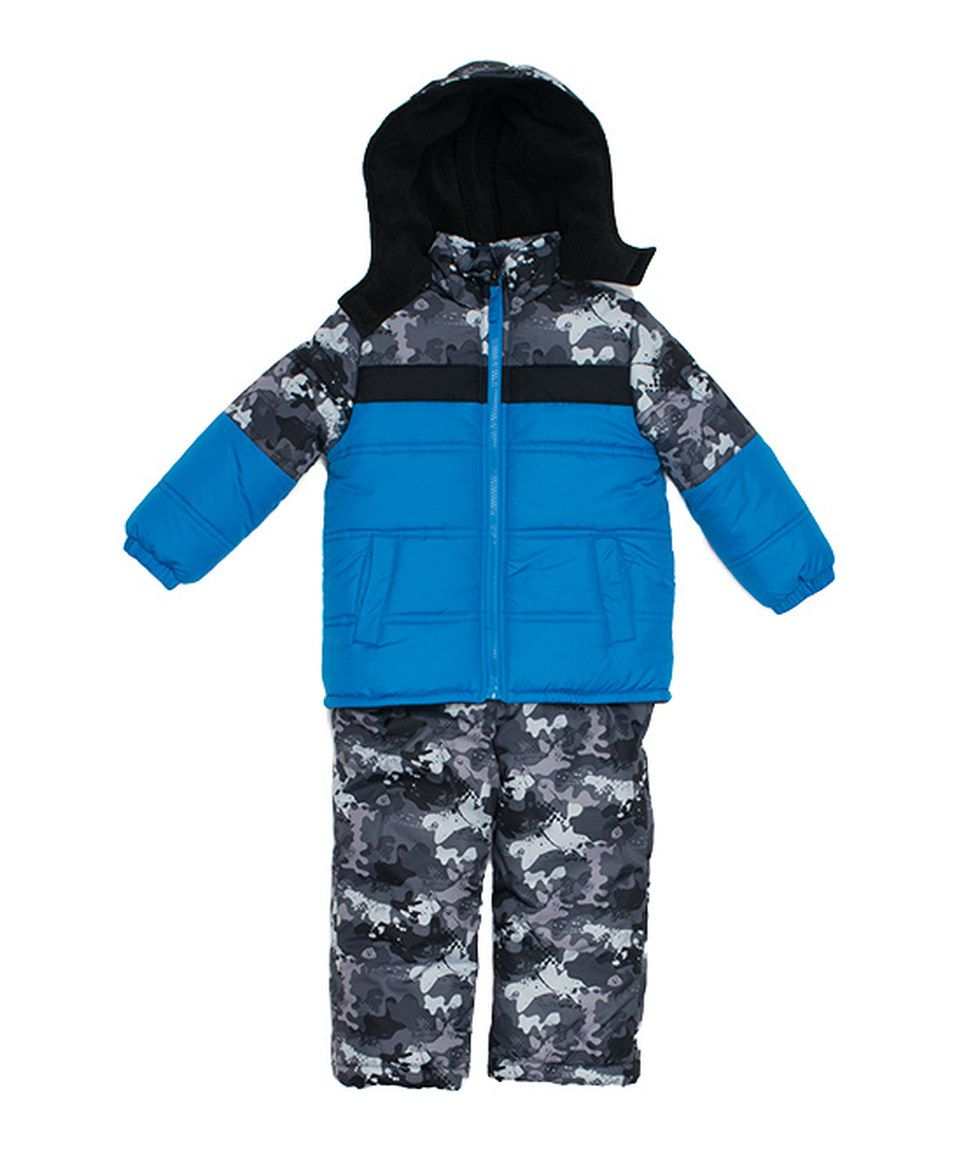 c27b302e7 Love this iXtreme Blue Camo Snowsuit - Infant, Toddler & Boys by iXtreme on  #zulily! #zulilyfinds