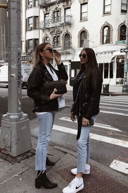 Photo of How to wear an affordable faux leather jacket in the spring?