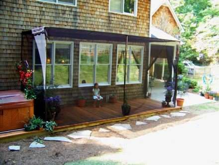 Are Mosquitos Hunting You And Your Family Mosquito Netting Curtains A Low Cost Screen Porch Alternative Custom Patio Enclosures In Week