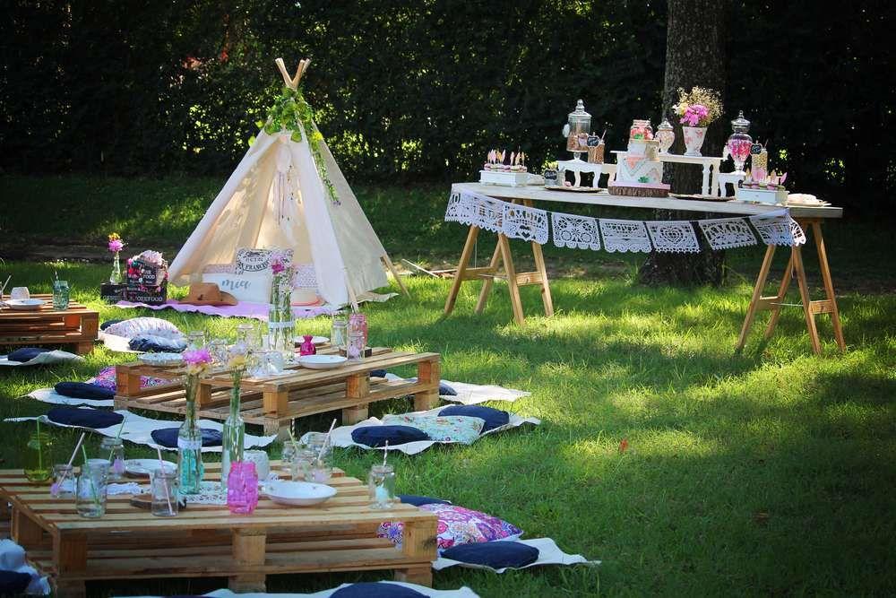 Boho Chic Birthday Party Ideas Photo 1 of 22 Backyard