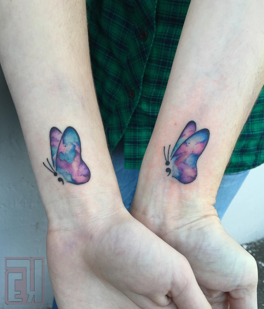 Adorable watercolor butterfly tattoo Butterfly tattoo