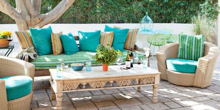 Fauteuils de jardin et coussins en couleurs- 21 idées fraîches ...