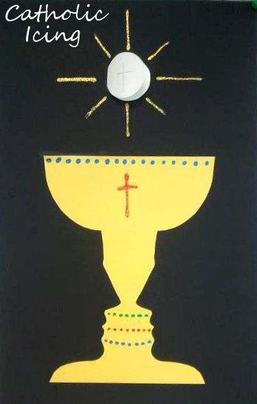 Host And Chalice Craft For Catholic Kids First Communion