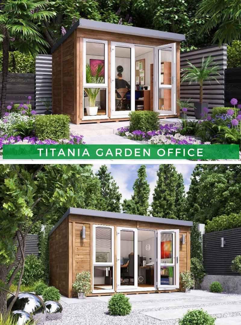 Titania Garden Office Gartenhaus, Gartenbüro, Garten