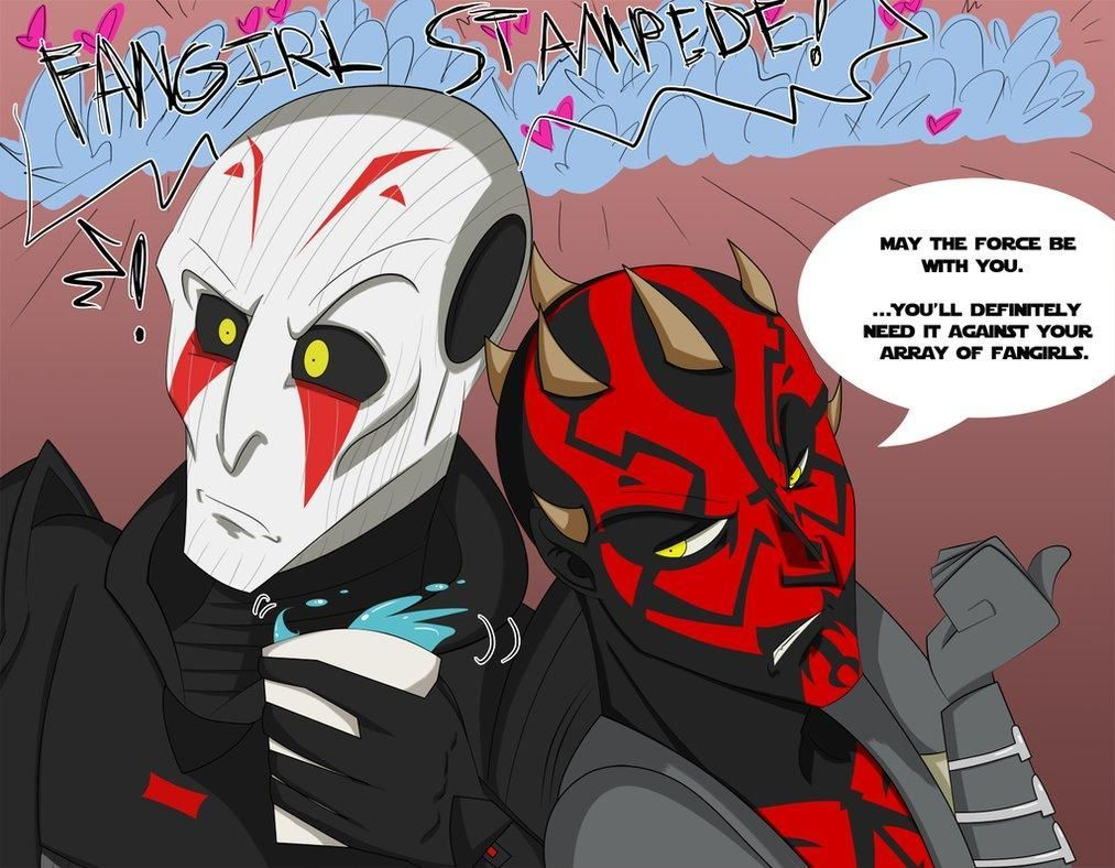 The Sith Inquisitor S Fangirls By Cyraina Star Wars Rebels Know Your Meme Starwarshumor Star Wars Rebels Ezra Star Wars Villains Star Wars Humor