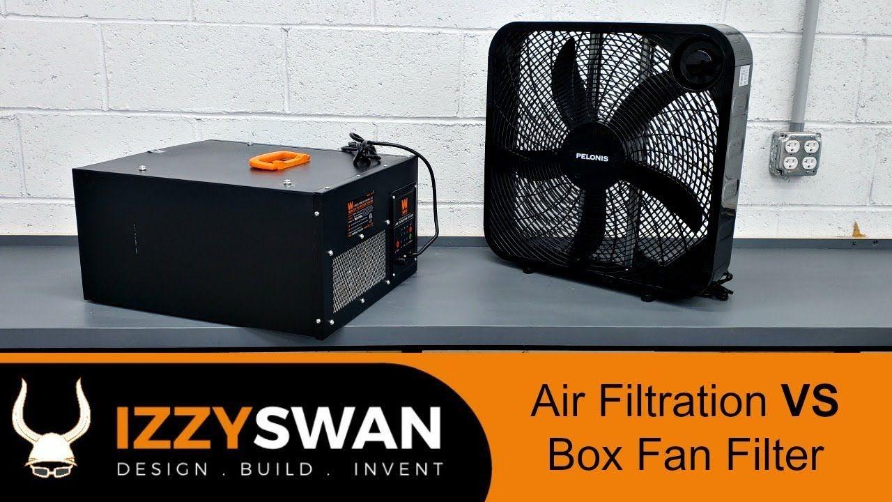 Shop Air Filter System VS Box Fan Surprise Air filter
