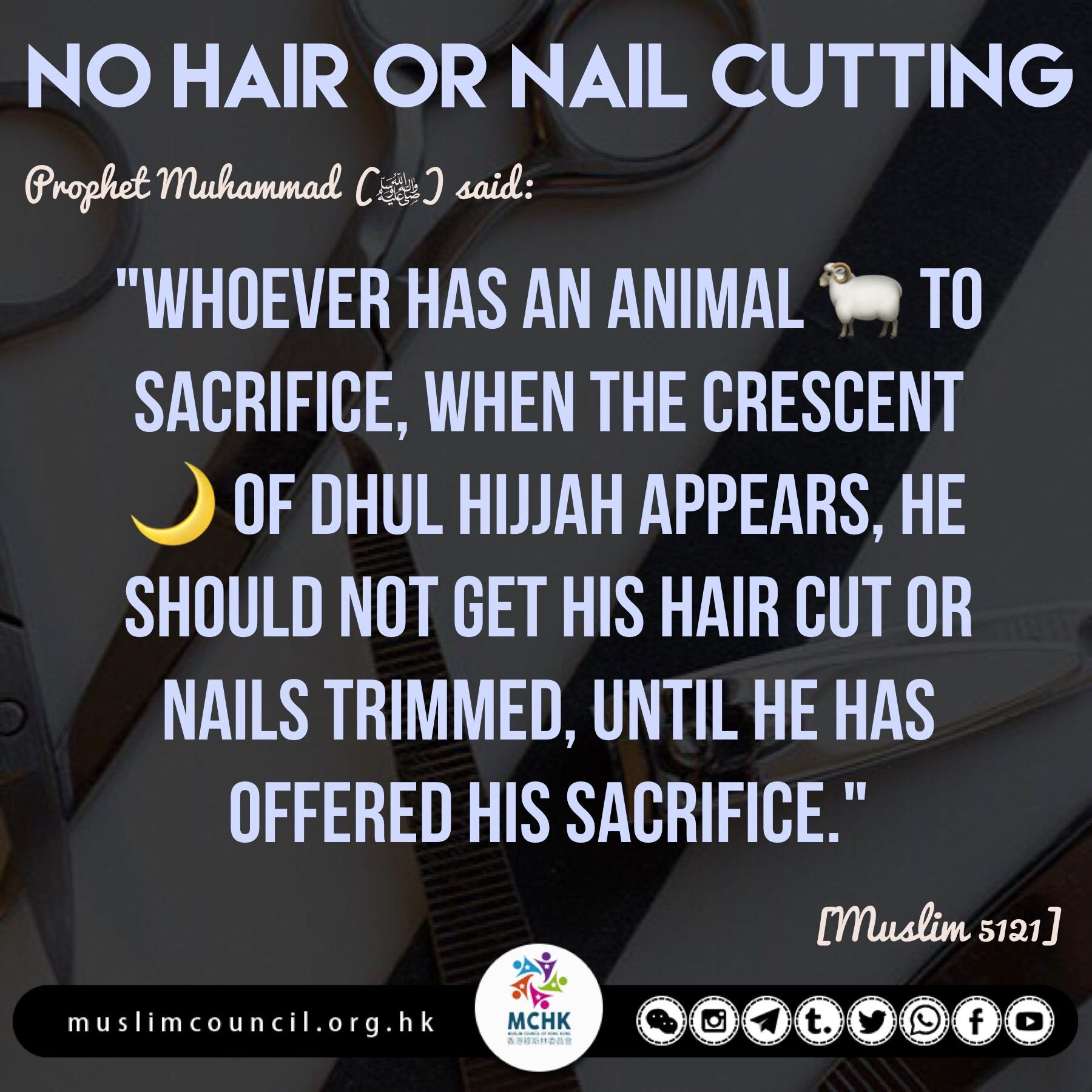 Cutting Hair Zul Hijjah
