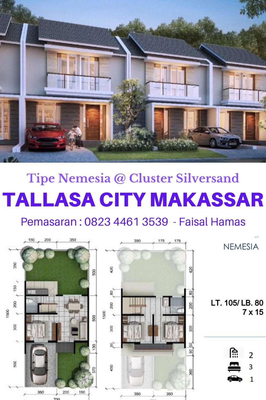 Harga Rumah Citraland Tallasa City Cluster Silversand Nemesia Tipe 80 Di 2020 Desain Rumah Rumah Desain