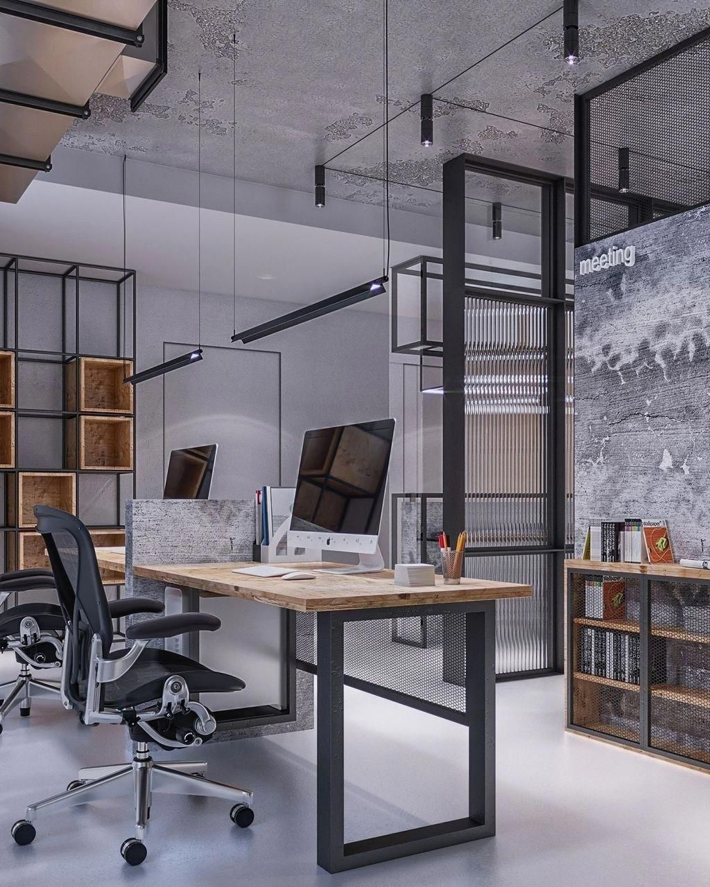 30 Brilliant Industrial Office Design Ideas Trendhmdcr Com Officedesigns Office Interior Design Modern Office Space Modern Office Decor