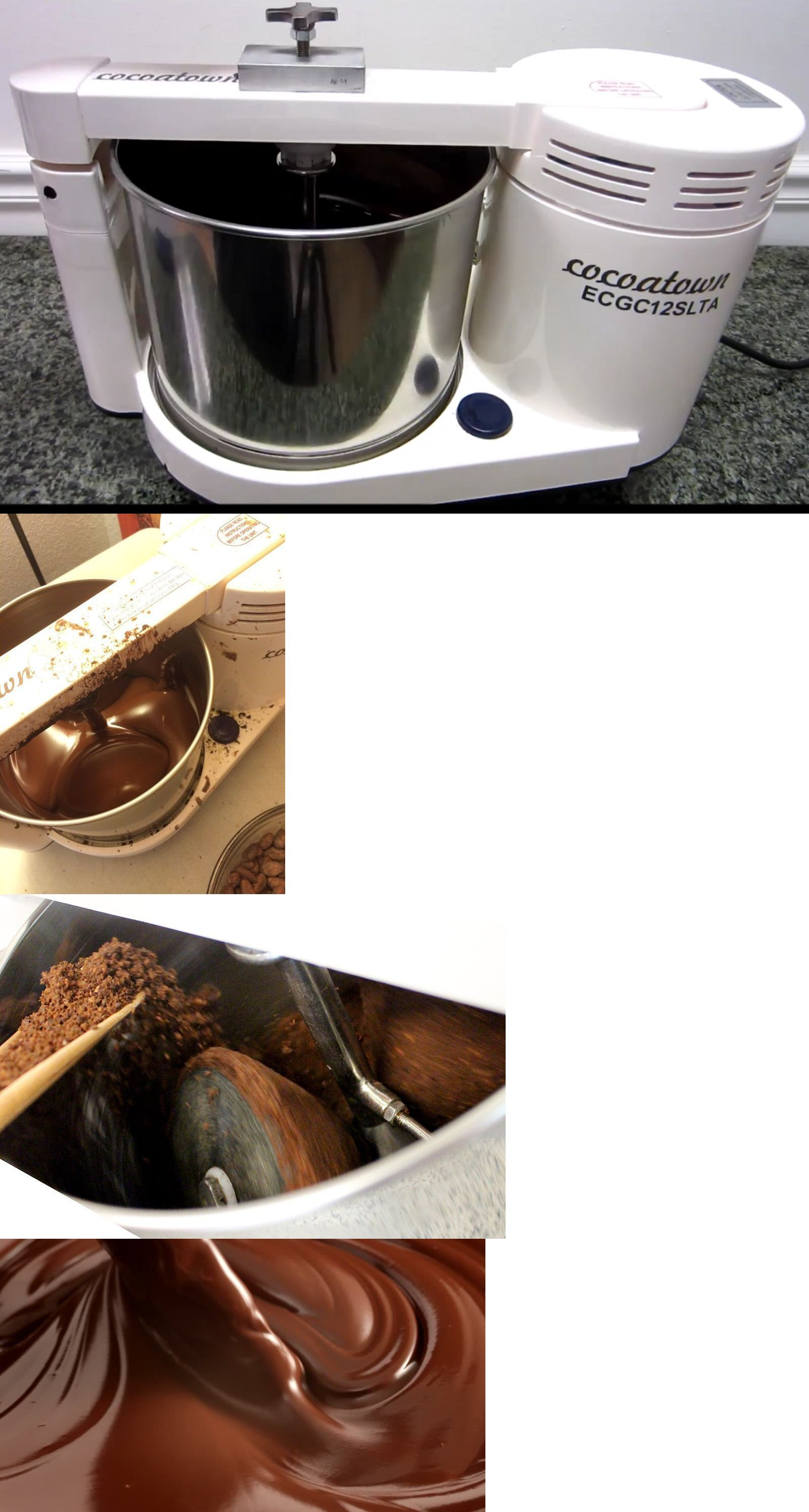 Cocoatown Melanger Chocolate Refiner Stone Grinder Nut Butter Cocoa Cacao 110V