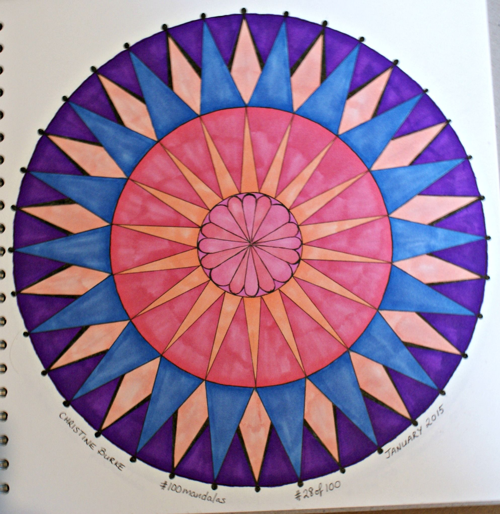 #100mandalas - mandala # 28 of 100 - January 2015