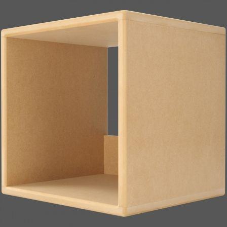 I CUBE LP100 Vinyl LP Record Storage Cube   MDF Wood