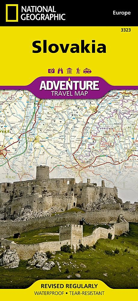 Slovakia Adventure Map By National Geographic Maps National - National geographic travel map