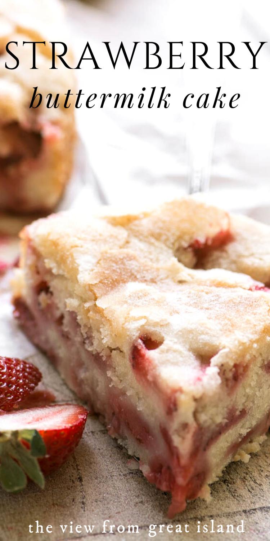 Strawberry Buttermilk Cake In 2020 Strawberry Dessert Recipes Strawberry Recipes Easy Desserts