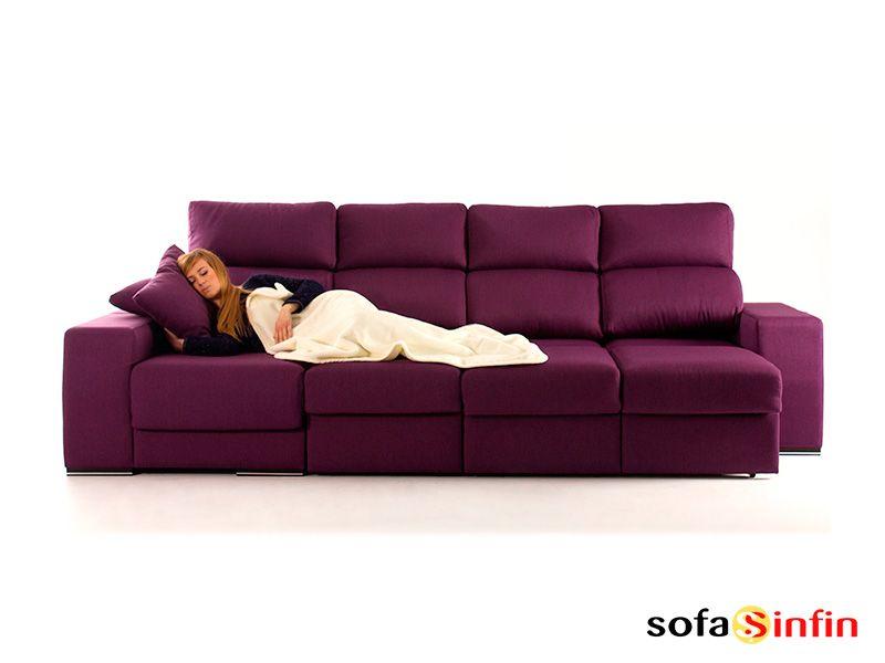 Sofá con chaise longue modelo Marieta fabricado por A odel en