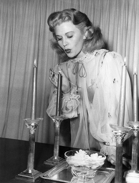 Joan Caulfield in Demure Costume Peignoir Robe | Flickr - Photo Sharing!