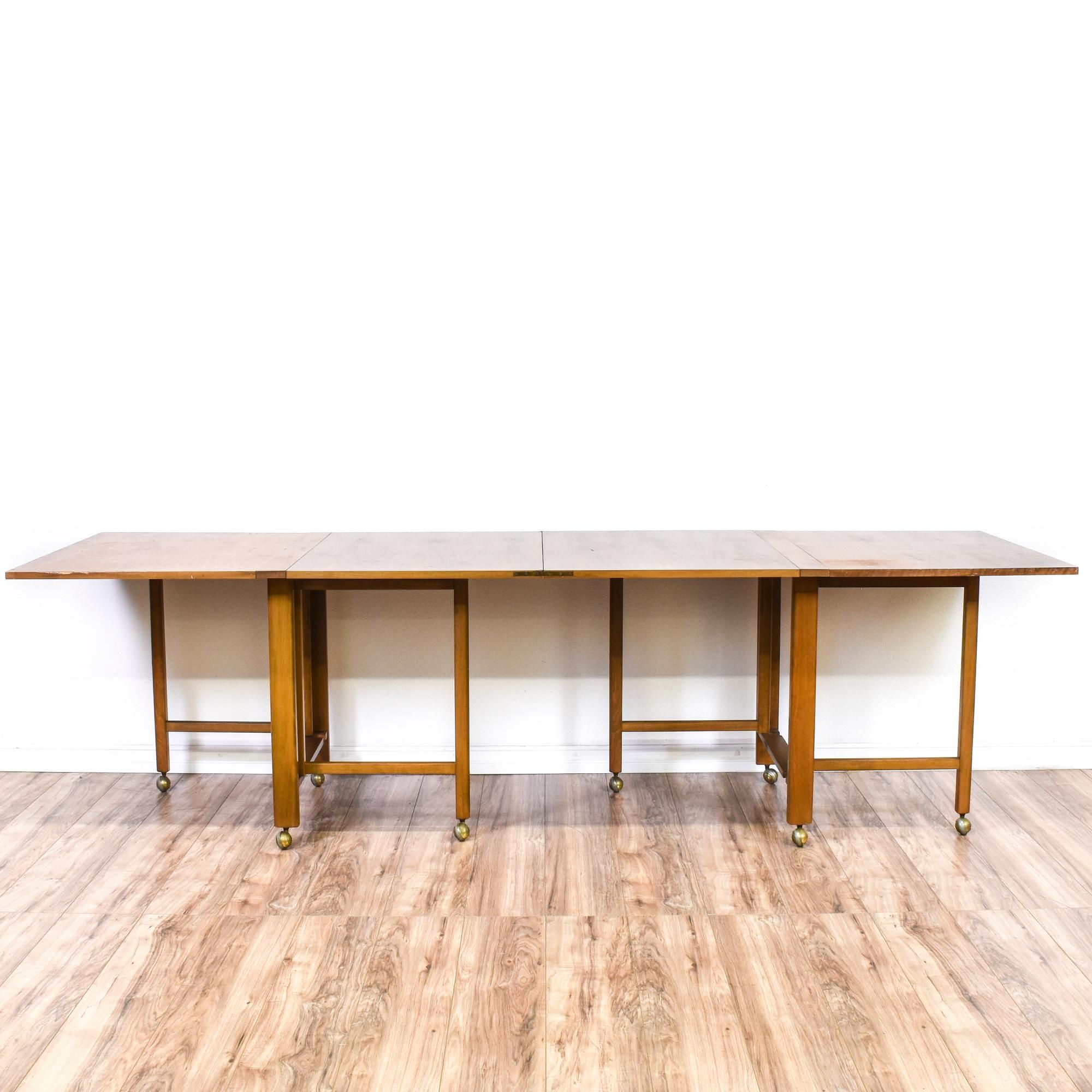 This Mid Century Modern Folding Dining Table Is Featured In A Solid - Mid century modern folding dining table