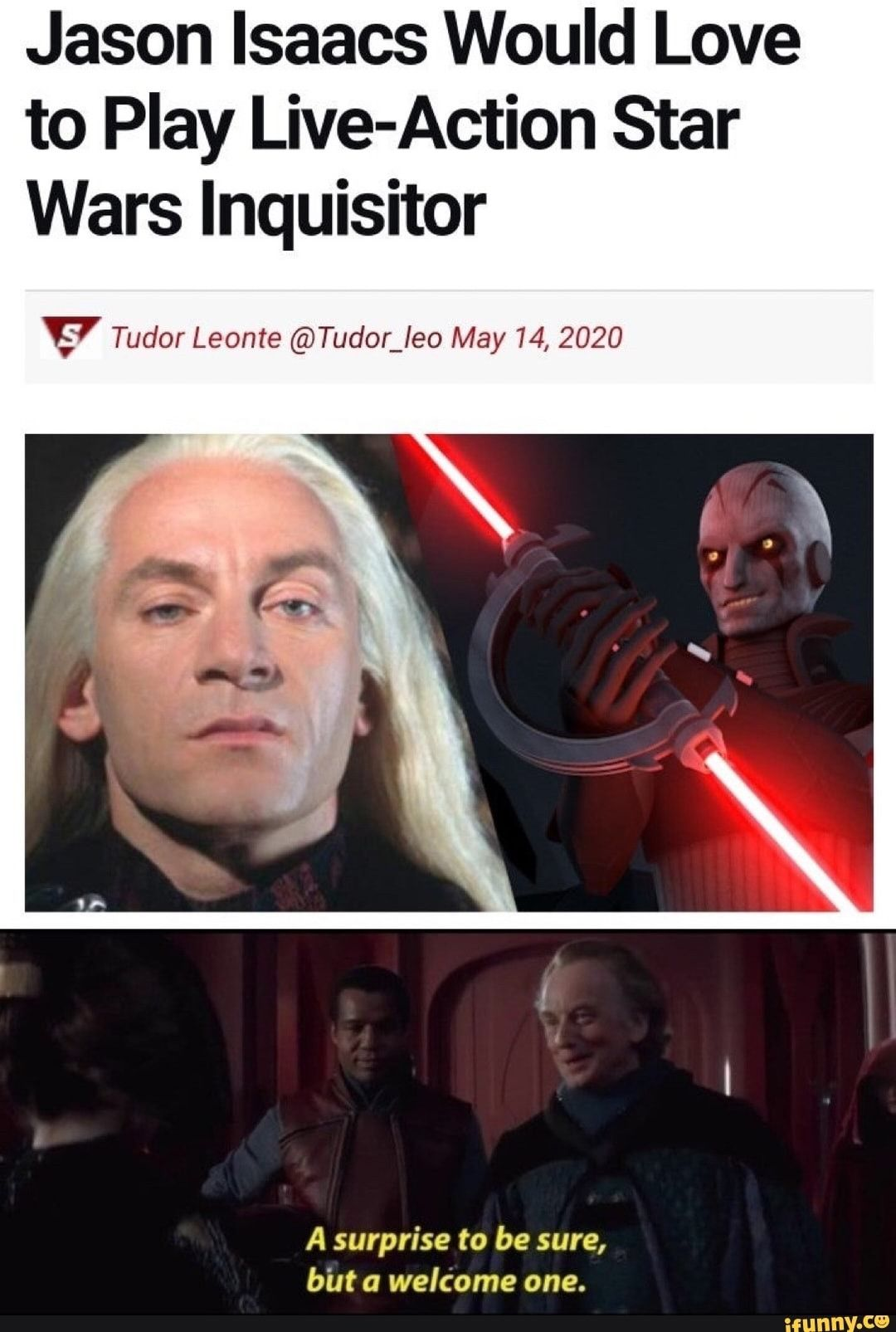 This Would Be Amazing Star Wars Jason Isaacs Live Action