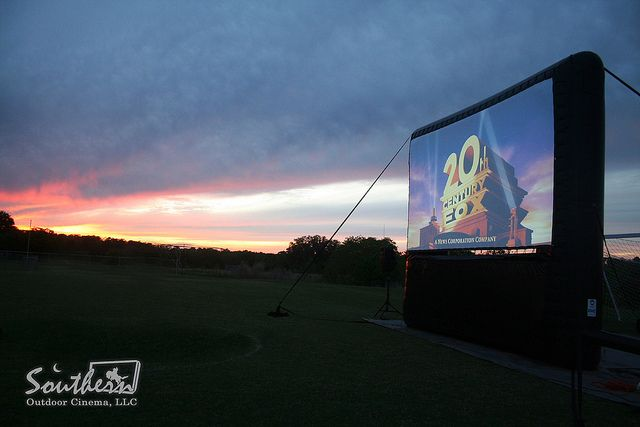 The sunset at a recent outdoor movie event resembles the ...
