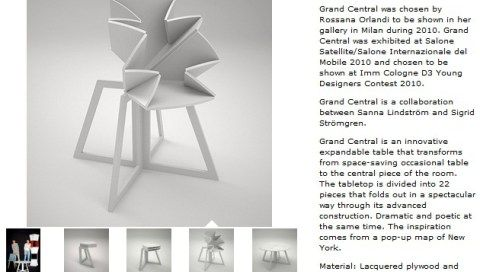 Folding Table is Inspired By Pop-Up Map