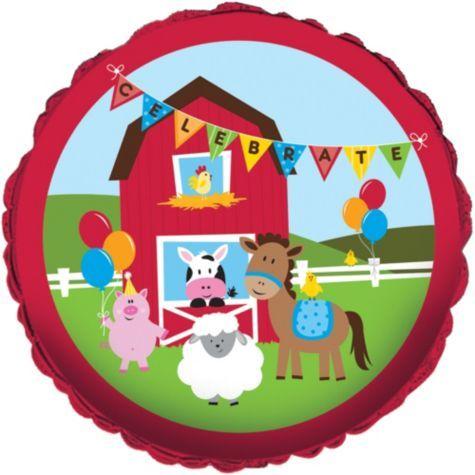 Birthdays Farmhouse Fun Birthday Balloon