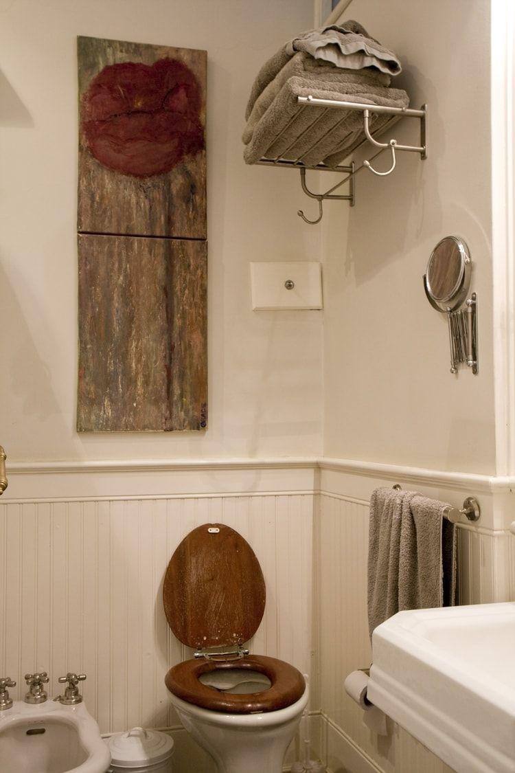Déco authentique | Toilettes | Pinterest | Couleur taupe, Linge de ...