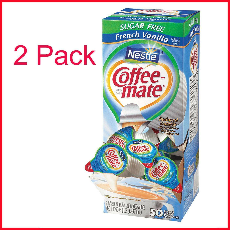 2 packs nestle coffeemate creamer tubs french vanilla