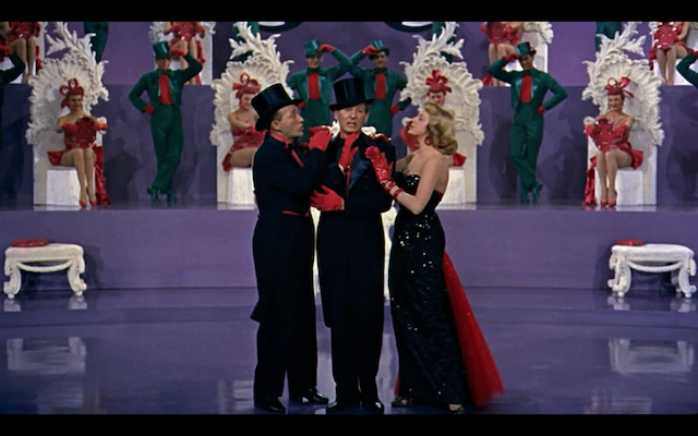 White Christmas Minstrel Show.Bing Crosby Danny Kaye And Rosemary Clooney In White
