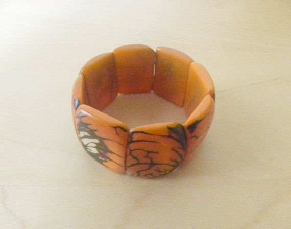 Tagua Seed Nut Eco Friendly Fair Trade Stretchy Chunky by Etnochik