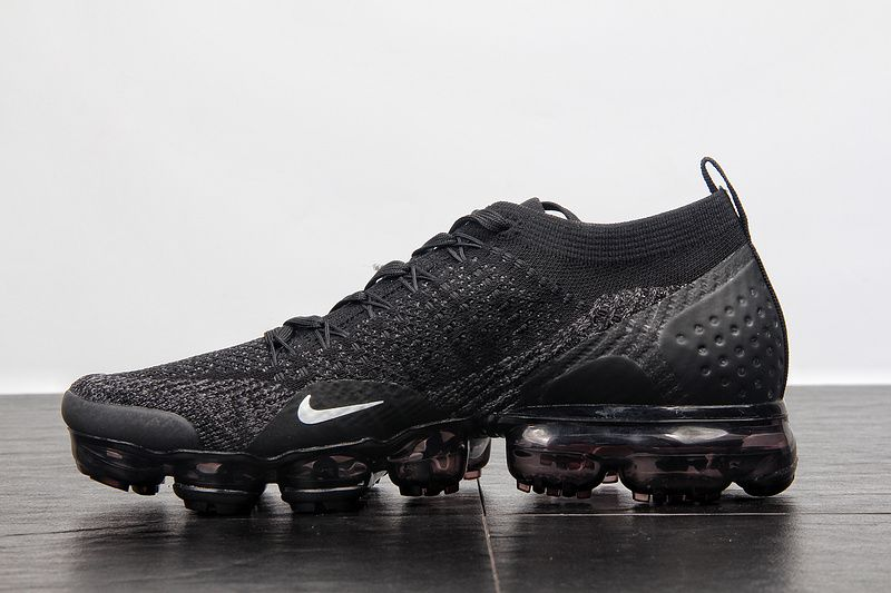 996bbd63f33f3 Cheap Nike Air Vapormax Flyknit 2.0 Triple Black 942842-012 2018 Spring  Summer Sale