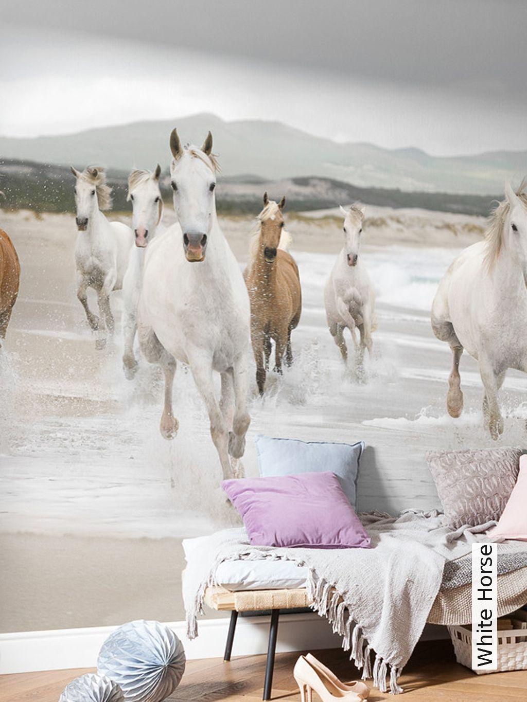 White Horse Kinderzimmer In 2019 Madchen Pferde Zimmer Pferde