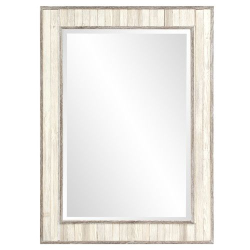 Pin By Tricia Murphy On Home Decor Ideas Rectangle Mirror Plank Walls Wood Trim