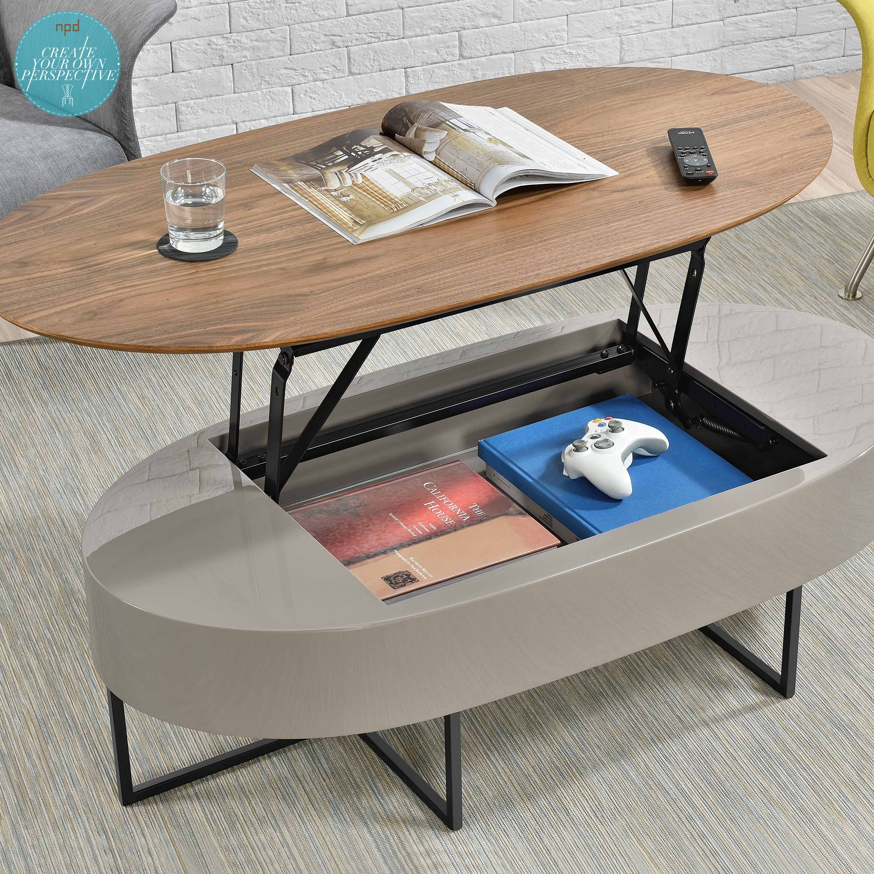 Consider This Multi Functional Oval Lift Top Table If You Re Moving To A Smaller Space Or Planning To Spruce Up Your Living Room Decor The Hansel Coffee Table